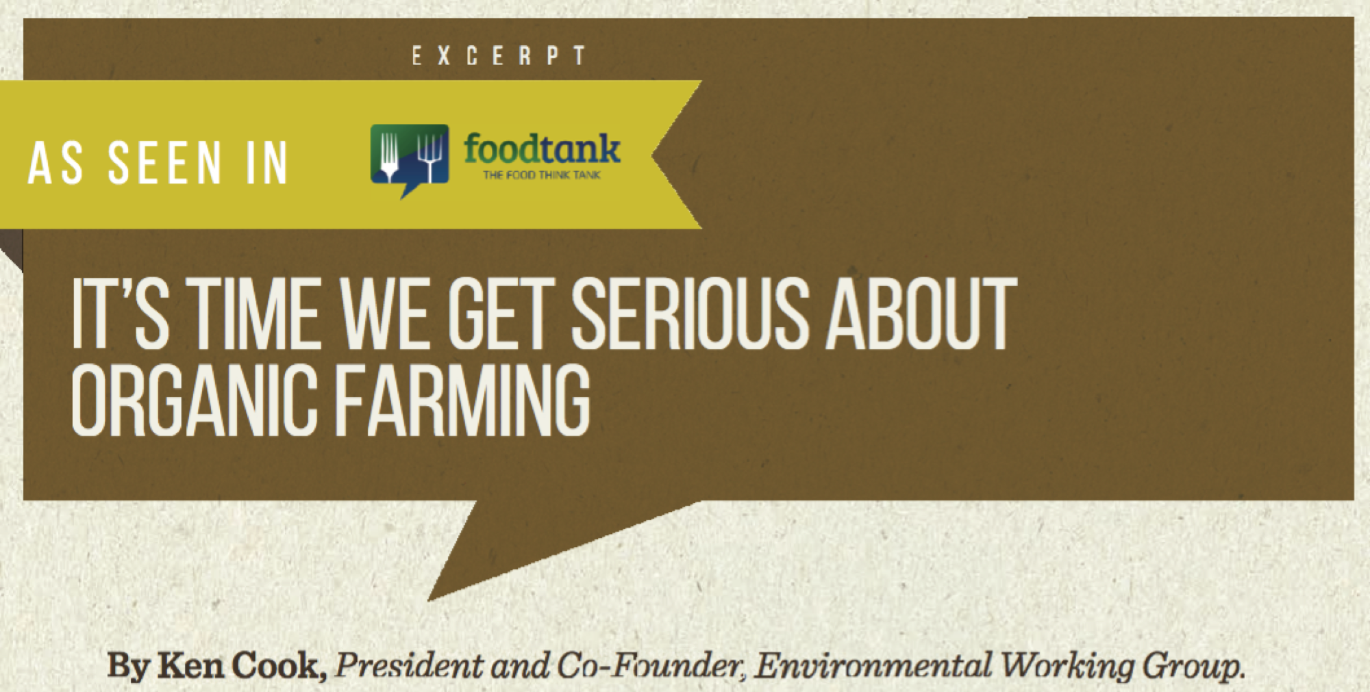 It's Time We Get Serious About Organic Farming