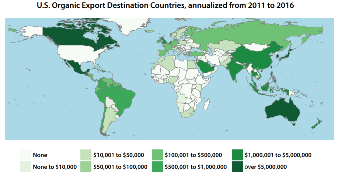 U.S. Organic Worldwide: New report analyzes organic imports and exports through 2016