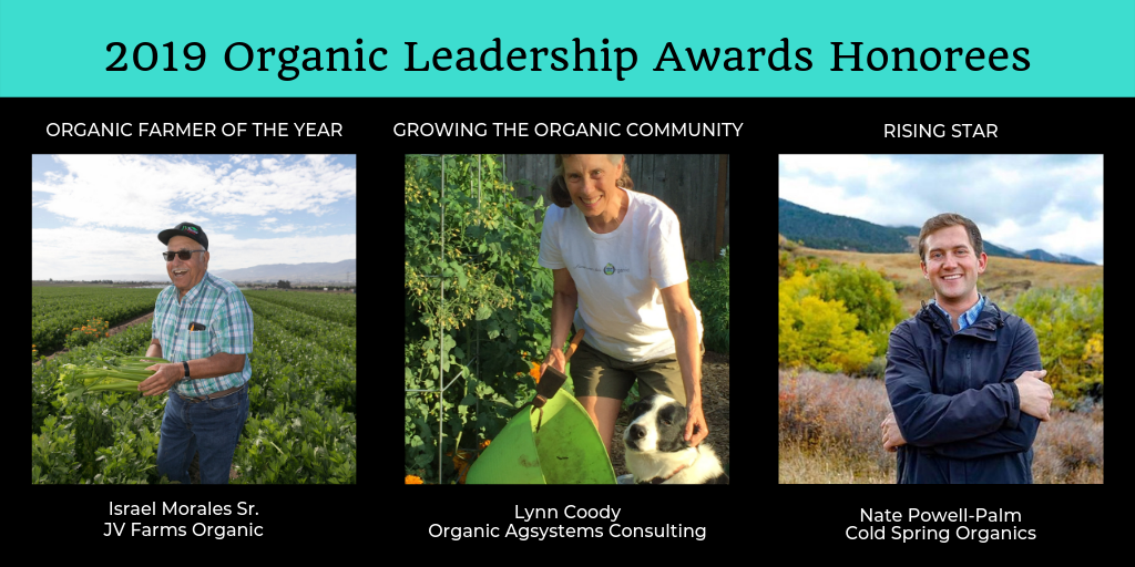 Three organic stand-outs receive Leadership Awards